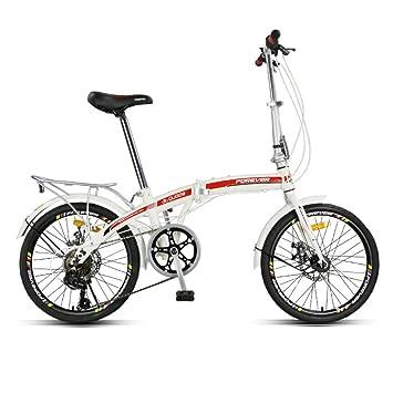 YEARLY Bicicleta plegable mujer, Adultos bicicleta plegable Plegable Hombres y mujeres Velocidad 7 Shimano Ultra