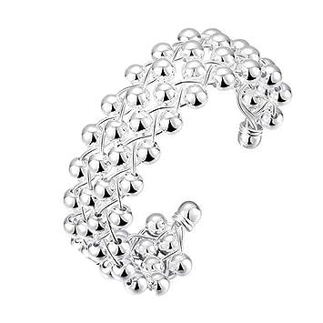 XXWG Classic Knot 925 New Gift Women Lady solid Silver Bracelet Bangle ZmqOxOVz