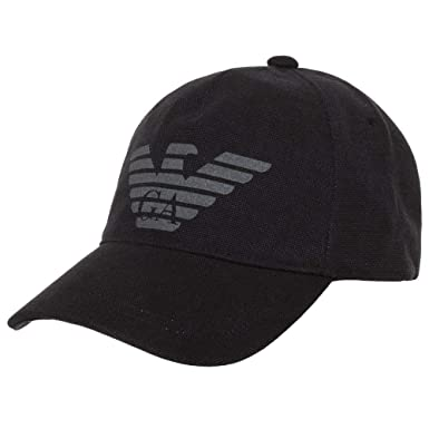 4f254eda586 Armani Hommes Casquette de Baseball Logo Coton Une Taille Noir  Amazon.fr   Vêtements et accessoires