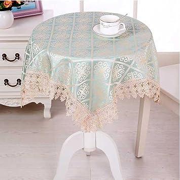 Benbroo nappe pour table de jardin, petite, ronde, en dentelle florale avec  serviettes épaisses rectangulaires