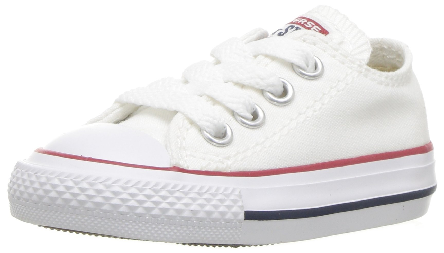 Converse Chuck Taylor All Star Canvas Low Top Sneaker, Optical White, 13.5 M US Little Kid