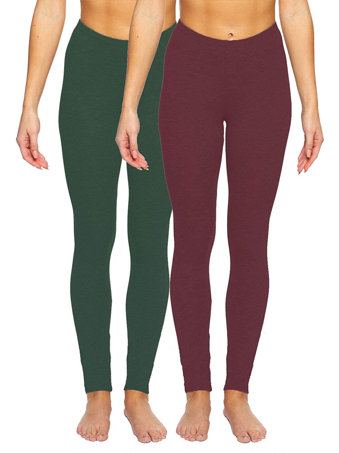 36cafcd4ce Felina | Velvety Soft Lightweight Leggings | Moisture Wicking | Yoga | 2  Pack at Amazon Women's Clothing store: