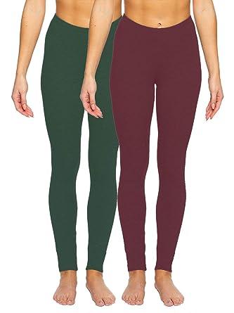 5800defc075 Velvety Super Soft Lightweight Legging 2-Pack at Amazon Women s Clothing  store