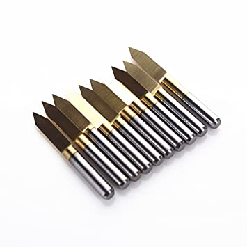 5pcs Carbide PCB Engraving Bits CNC Router Tool 15 Degree 15° 0.1mm