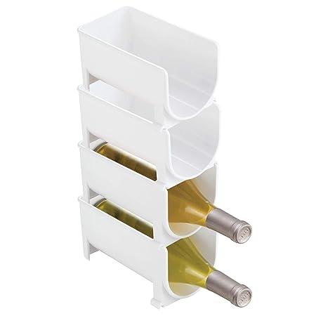 mDesign Estante para botellas - Ahorre espacio con este botellero ...