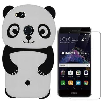Hcheg funda de silicona diseño panda (negro) para Huawei P8 ...