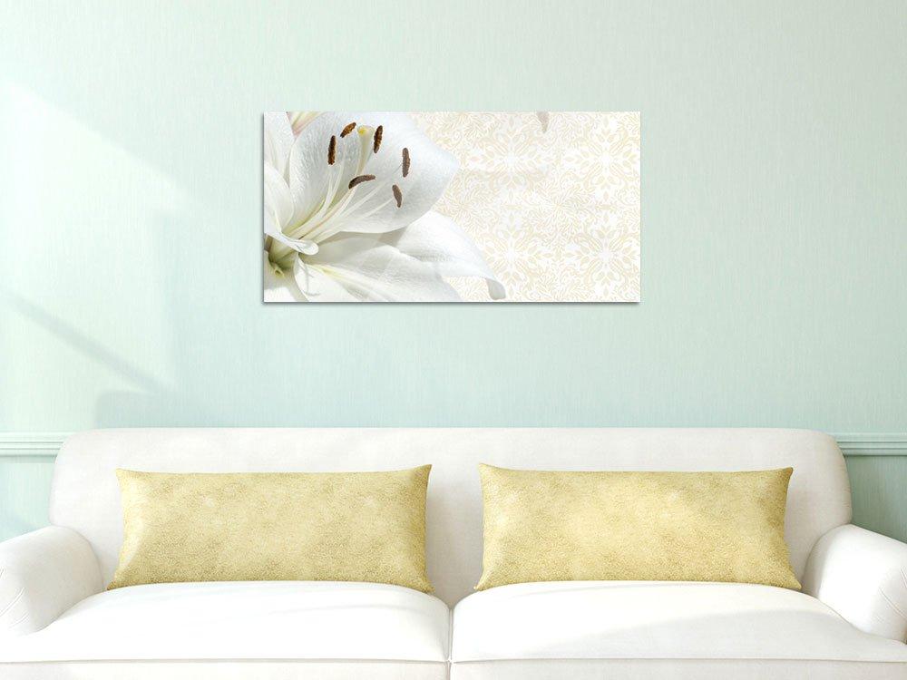 GRAZDesign 100349_004_01_04 Wandbild mit Blüten Einer Lilie   Wohnzimmer Blumenbilder für Wohnzimmer  Küche als Hochwertiges Kunstdruck aus Acrylglas (180x50cm) 9a3c3c