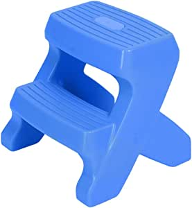 LXLA- Plástico Para Bebés 2 Pasos Escalera Taburete Baño Para Niños Banco Antideslizante Mini Escabel Multiusos Para Cocina, Baño, Inodoro (Color : Blue, Tamaño : 44×39×40cm): Amazon.es: Bricolaje y herramientas