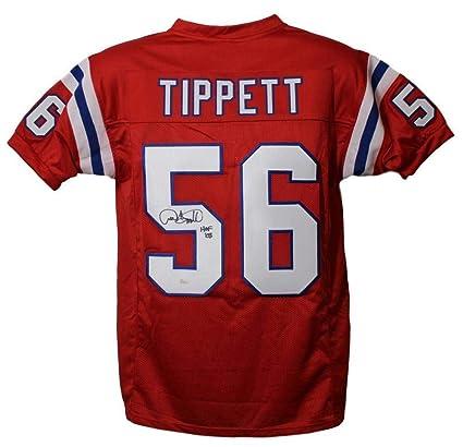 super popular ee69a e4d9e Autographed Andre Tippett Jersey - Red XL HOF 21992 - JSA ...