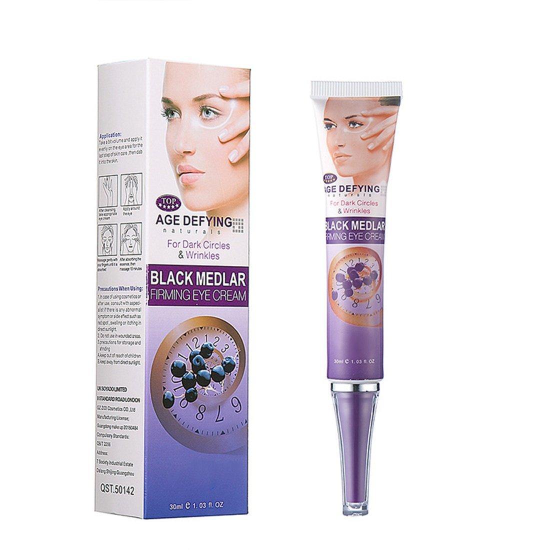 SODIAL Black GoJI Fading Dark Eyes Eye Lines Essence Deep Moisture Anti-wrinkle wolfberry Essence Eye Cream 30g