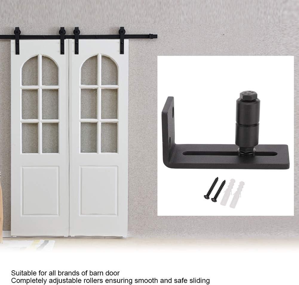 Double Roller Adjust and Tighten Carbon Steel Adjustable Sliding Floor Guide for Barn Door Hardware Accessory
