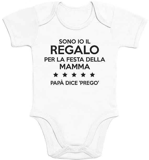 5e7dfed7ef0f47 Shirtgeil Sono io Il Regalo per la Festa della Mamma Body Neonato Manica  Corta: Amazon.it: Abbigliamento