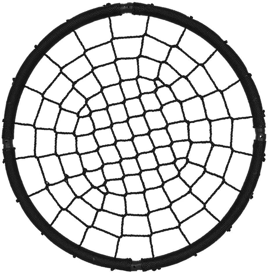 columpio de 95 cm de di/ámetro para ni/ños y adultos 200 kg negro capacidad interior exterior Columpio de jard/ín a nido columpio de nido redondo m/áx