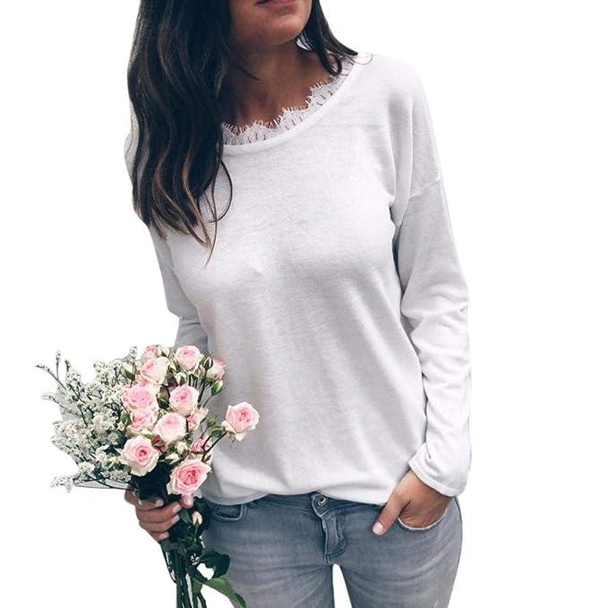 Amazon.com: Drfoytg Clearance, camiseta sexy de encaje para ...