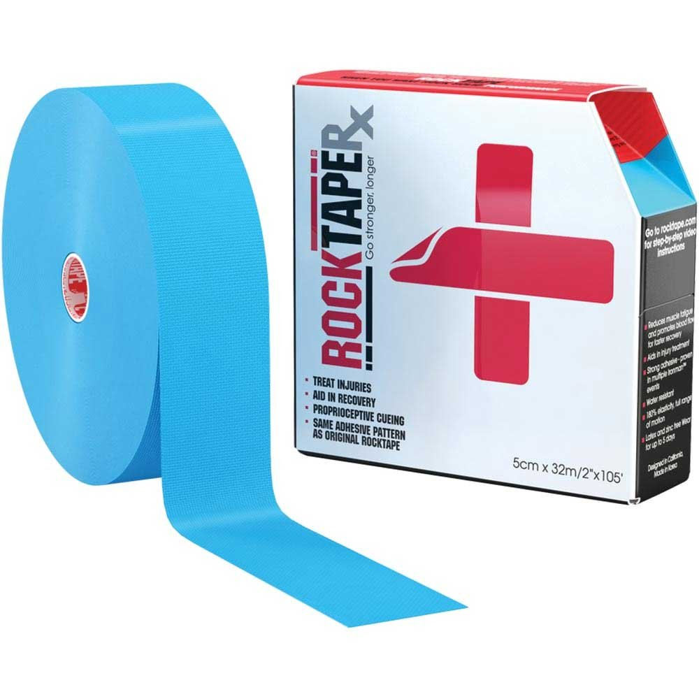 Rocktape RX Sensitive-Skin 2-Inch Kinesiology Tape, 105-Foot Bulk Roll, Blue