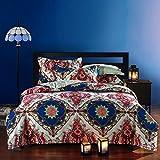 FADFAY Bohemian Style Duvet Covers Bedding Set Full Size Boho Bedding 4 Pieces