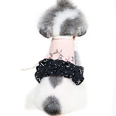 Pet Supplies Cute Flower Small Pet Cat Dog Harness Vest And Leash