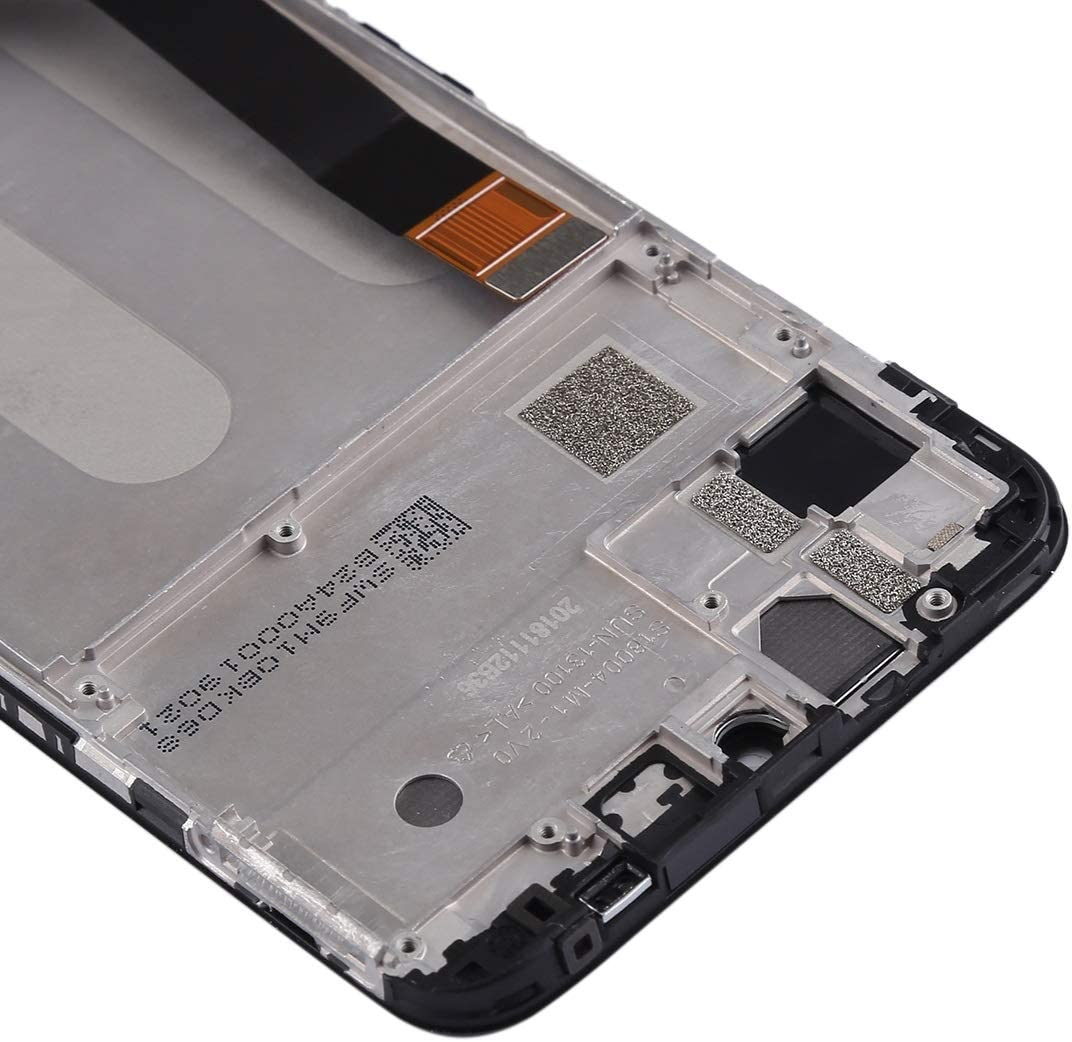 LCD Screen Mobile Phone and Digitizer Full Assembly with Frame for Xiaomi Mi Play Color : Black Black