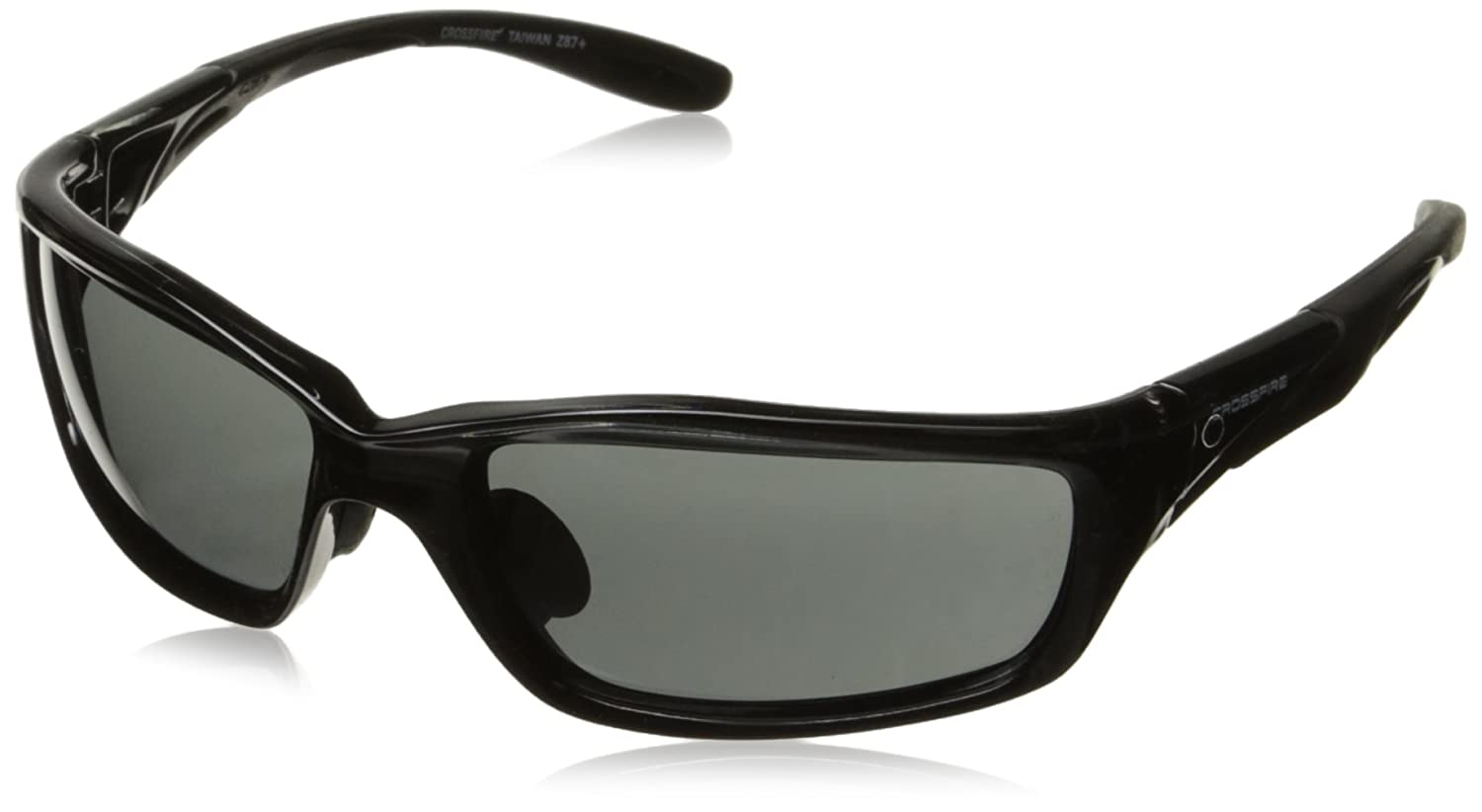 Crossfire 241 Infinity Crystal Black Frame Safety Sunglasses with ...