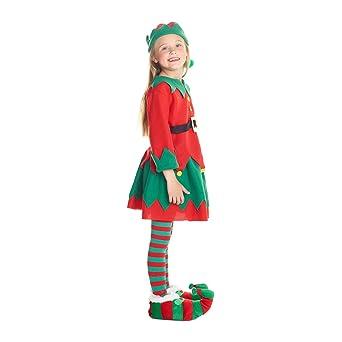 Amazon.com: Morph Disfraz de elfo de Navidad para niñas ...