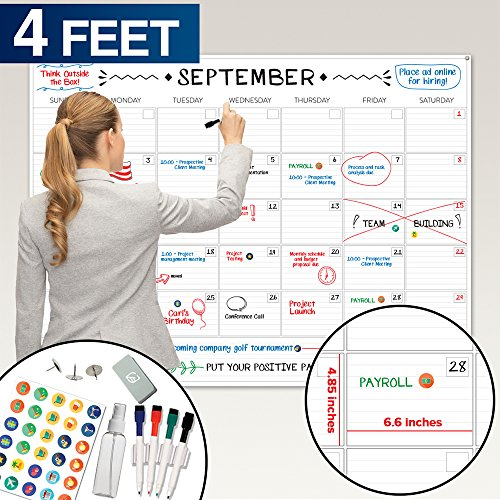 Giants Wall Calendar (Large Dry Erase Wall Calendar - 36