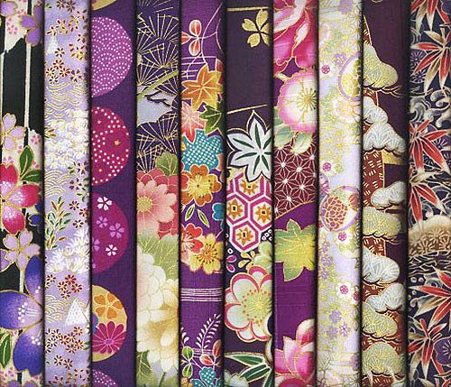 Asian Quilting Fabric - 10 Purple Asian Japanese Fat Quarter Quilt Fabric Bundle #33 (2 1/2 Yards Total)