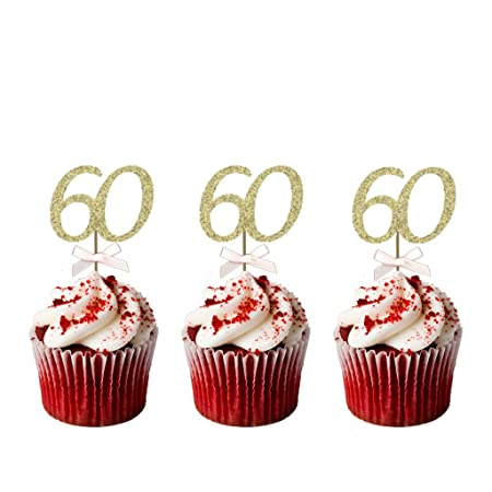 60th Birthday Cupcake Toppers