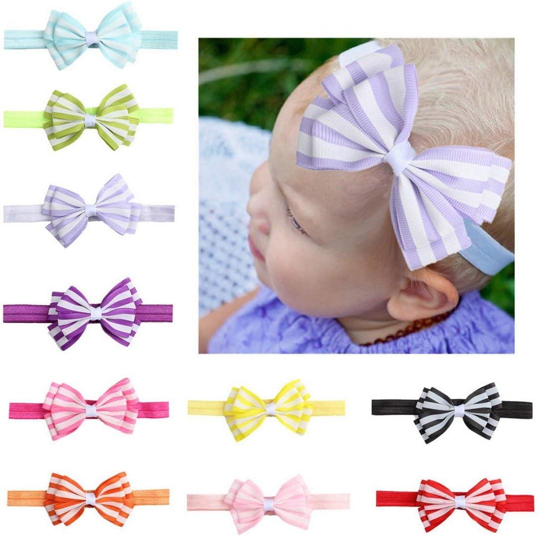 Candybarbar X-17117 M/ädchen Baby Haarband Gestrickte B/ögen Haarband Kleinkind Turban Baby Baumwolle Haarschmuck Exquisite Stirnb/änder