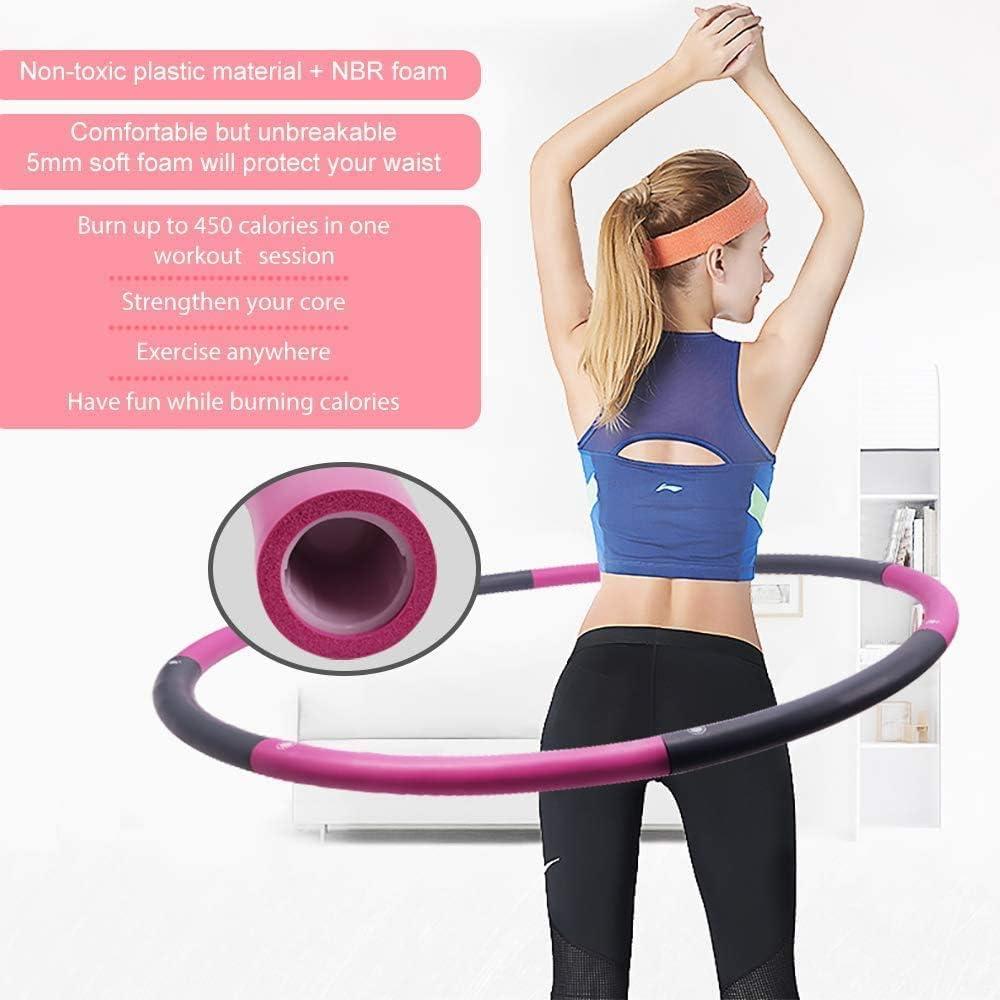 6//8 Teile Hula Hoop Reifen Fitness Schaumstoff Bauchtrainer Fitnesstraining 1KG