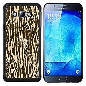 TECHCASE---Cubierta de la caja de protección para la piel dura ** Samsung Galaxy A8 ( A8000 ) ** --Zebra Madera Animal Patrón de Brown