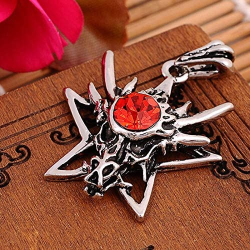 Mens necklace MenS Dragon Star Titanium Stainless Steel Punk Leather Chain Pendant Necklace