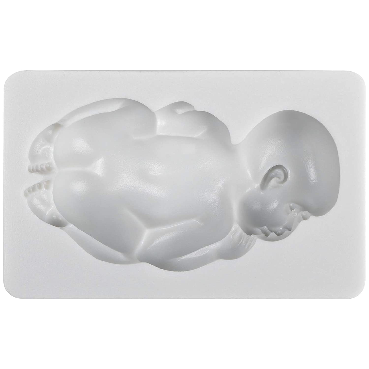 Funshowcase Large Sleeping Baby Silicone Mold for Cake Decoration Candy Soap Making