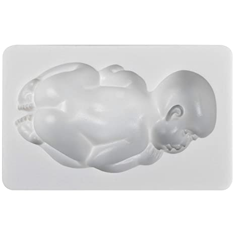 FUNSHOWCASE Súper Grande Molde Silicona de Fondant para Decoracion con Forma Bebé Sueño 3D 11x6.