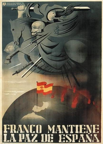 Envejecida guerra civil España 1936-39 propaganda FRANCO de ...