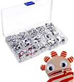 Wiggle Googly Eyes, Vakki 1100 PCS Plastic Self-Adhesive Wiggle Googly Eyes for DIY Crafts, Teddy Bear Doll Making, Toy Accessories   5mm-25mm   13 Assorted Size