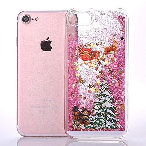 iPhone 7 Silikon Hülle,iPhone 7 Glitzer Hülle,iPhone 7 Transparent Hülle,iPhone 7 Crystal Clear TPU Case Hülle Klare Cristall Silikon Gel Schutzhülle Etui für iPhone 7 4.7 Zoll,EMAXELERS iPhone 7 (4.7 Christmas Tree 1