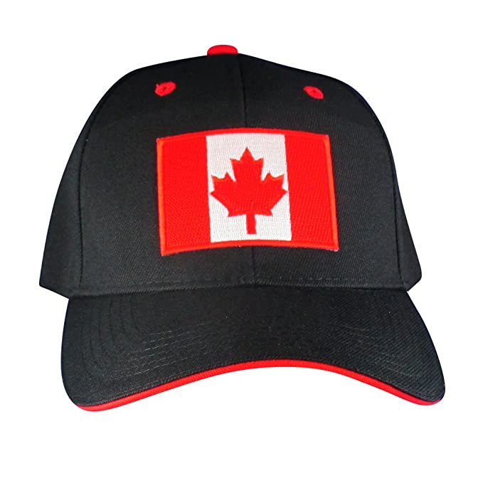 35a893c91d9 Image Unavailable. Image not available for. Color  AffinityAddOns Canadian  Maple Leaf Flag Hat – Embroidered Patch Baseball Cap