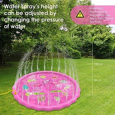 Yedda Splash Pad, Juegos de Agua para Niños, Almohadilla de Aspersor de Juego de 170 cm para Niños con Chorro de Agua, Juegos de Agua para Jardín al Aire Libre de Verano