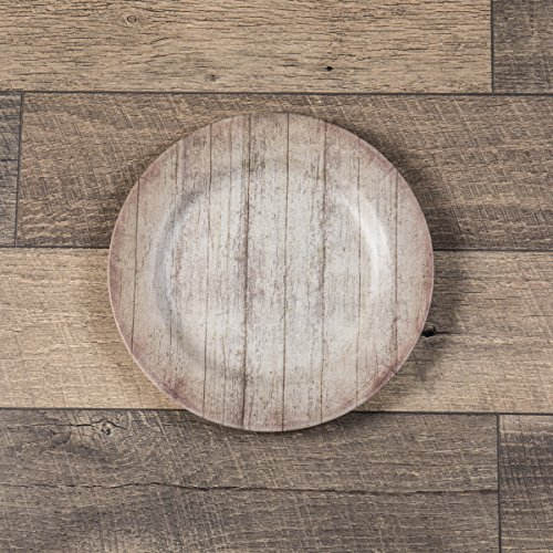 Ragon House 12 INCH Grey BARN Wood Charger x 2 by Ragon House (Image #1)