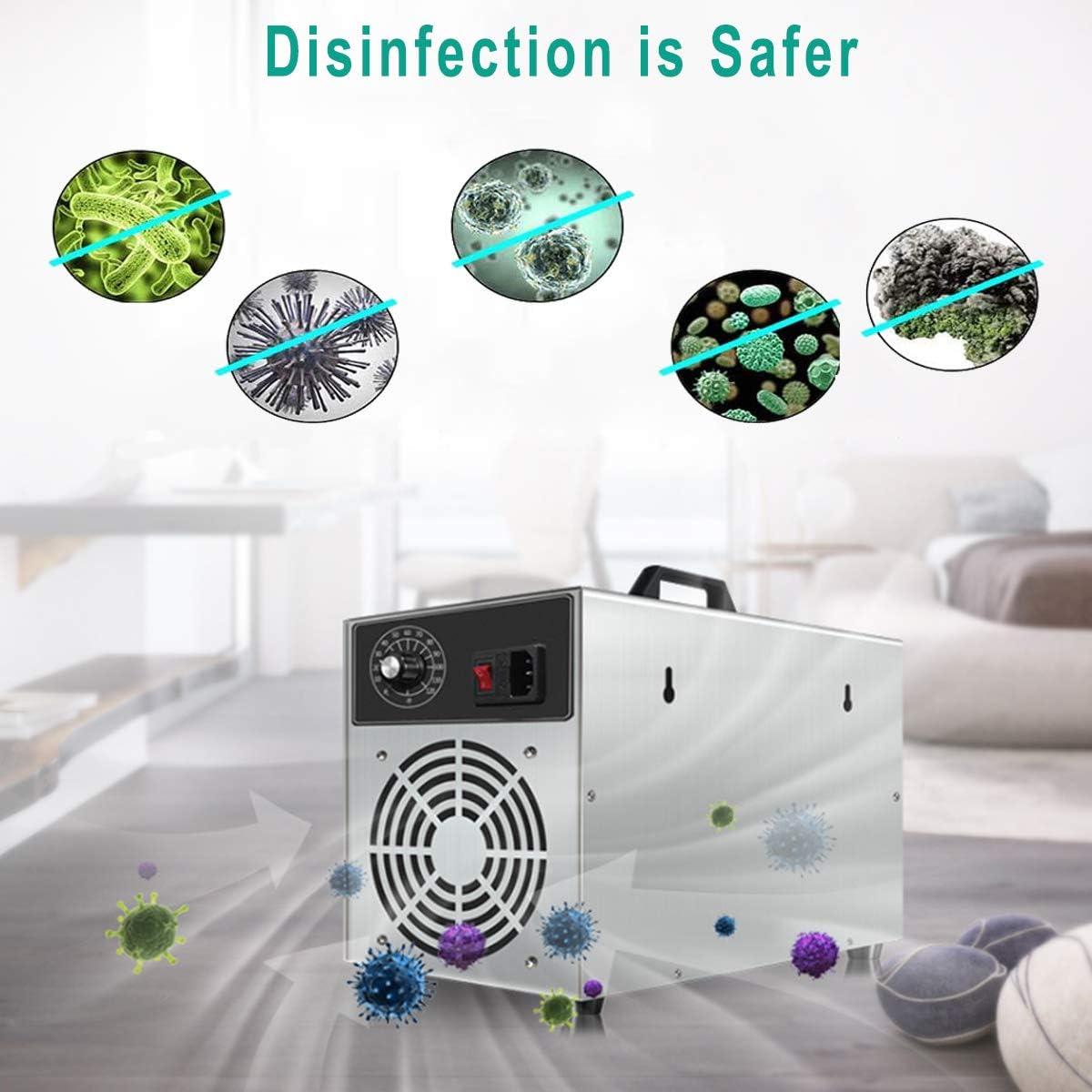 Lychee Kommerzieller Ozongenerator,10,000 mg//h Ozon Luftreiniger Ozonger/ät Ozonisator mit Timer f/ür Zimmer Gesch/äft,Auto und Haustier