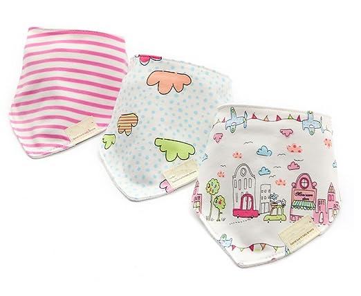 162 opinioni per CuteOn Baby Sbavare Bavaglini, Unisex 3-Pezzi Cotone Assorbente, Triangolo Bib