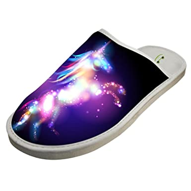 9f07f666b2aa Slippers with Unicorn UC Galaxy 3D Print Indoor Sandals Adults Shoes Flat  House Flip Flops 6
