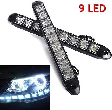 2 strisce di lampadine LED per auto, luci di marcia diurna e
