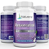 Naturene Resveratrol 1200mg, 60caps, 30 days – Super Antioxidant & High Potency Trans-Resveratrol – with Pomegranate, Green Tea, Quercetin and Grape Seed Extract