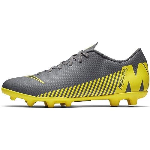 2c1fc5ca6be Nike Men s Vapor 12 Club FG MG Dark Green Black-Opti Yellow Football ...