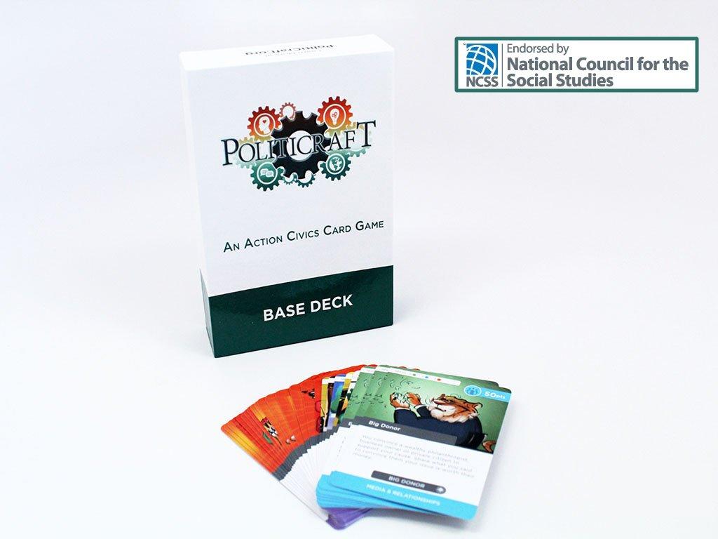 politicraft acción juego de cartas de educación cívica – Base cubierta