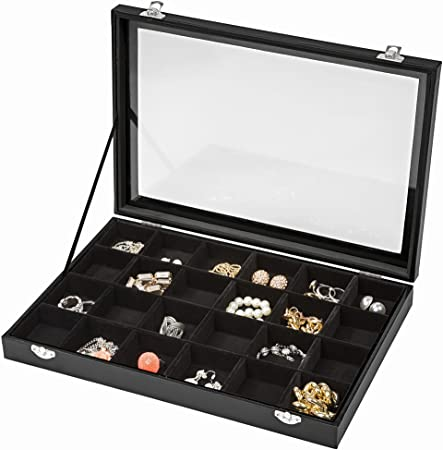 TecTake Caja para artículos de joyería cajita joyero anillos joyas ...