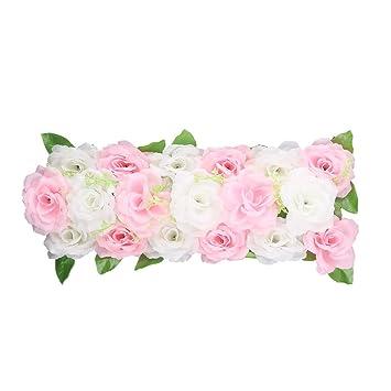 sourcingmap® Hochzeit Stoff DIY Wand Bogen Hängen künstliche Blume ...