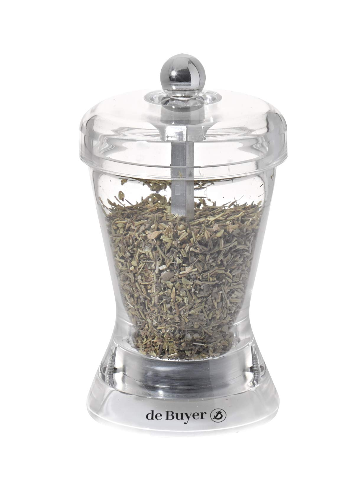 SPECIAL ACRYLIC MILL ZOUK Herbs Mill, transparent, 4-Inch by DE BUYER