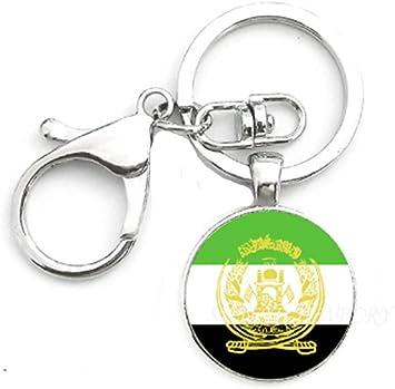 Nickel metal key ring National Flag Zimbabwe NEW